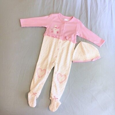 M&co Baby Girls Outfit And Hat Set Age 9-12 Months Brand New!