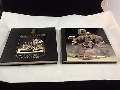 Set of 2 Books  Lladro: The Magic World of Porcelain & The Art of Porcelain