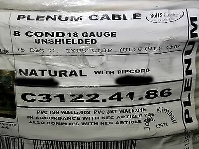 Carol C3122 18/8C Stranded Plenum Media/Security/Control Cable CMP White /100ft