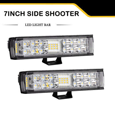 12Inch 432W CREE LED Light Bar Spot Flood Offroad Work Driving Lamp Truck 4WD 14