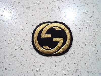 New Gold Gucci Logo Patch Embroidered Cloth Patches Applique Badge Iron Sew On 1