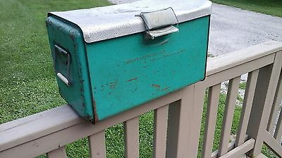 Vintage Rat Rod Cooler POLORON Aluminum Metal Ice Chest Campers Ice Box