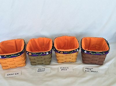 1 Happy Halloween Liner ONLY will fit Teaspoon NO Basket Longaberger NEW
