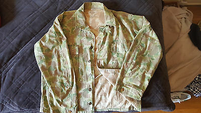 Vintage Ww2 Us Army Paratrooper Hbt Reversible Camouflage Jacket, Extremely Rare