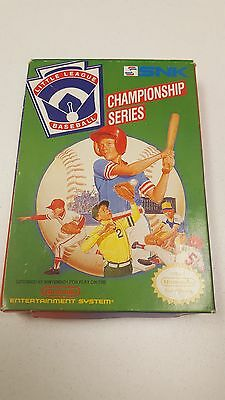 Little League Baseball NES GAME Nintendo WITH BOX AND MANUAL RARE FIND!!