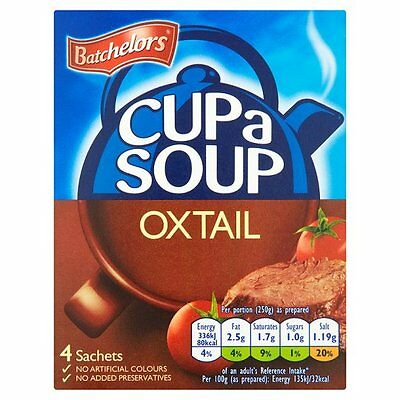 Batchelors Cup a Soup Oxtail 4 pack 78g - Sold Worldwide from UK