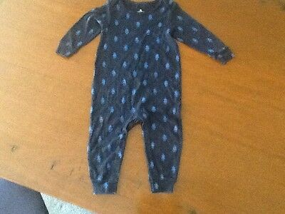 Baby boys playsuit 12-18  mths Navy Robots