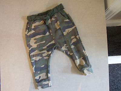 Zara Baby Boy 9-12 m Months Lovely Army Camoflage Trousers - So cute!