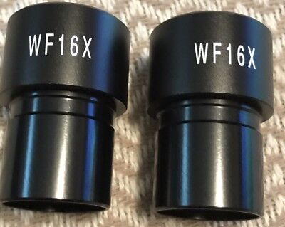 AmScope- Pair of WF16X Microscope Eyepieces-MINT!!!!!!