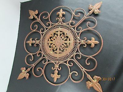 Vintage Decorative Ornamental Iron Wall Hanger