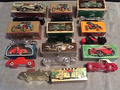 Vintage Avon Bottles, Lot of 10 Classic Cars