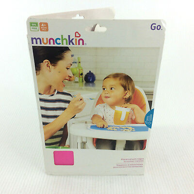 Munchkin Infant Placemat Baby Child Kids Folding Feeding Mat Table Pink Silicone