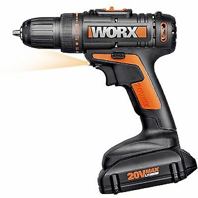 NEW WX169L WORX 20V Max Lithium Battery Cordless Variable Speed Drill & Driver