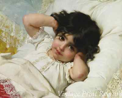 Sad Girl Child Toys 8x10 Print Picture 1564 The Broken Vase by Emile Munier