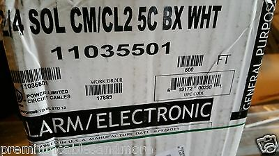 Honeywell Genesis Cable 1103 22/4C Solid Control/Media/Comm Wire USA CM /100ft