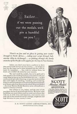 1943 Scott Fine Radio: Sailor, If We were Passing Out  (21409) Print Ad