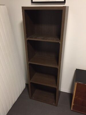 Tall Brown Shelves