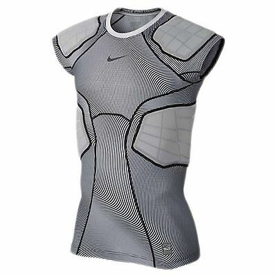 new mens M/3XL nike pro combat hyperstrong 4 pad compression shirt/top 808773