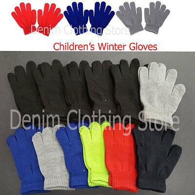 Kid's Children Boy Girl Assorted Winter Magic Gloves Warm Knitted Wholesale Lots