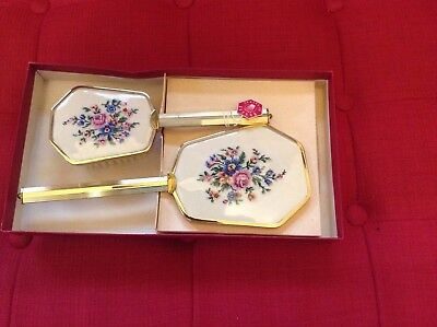 Vintage Mirror And Brush Set - REGENT OF LONDON