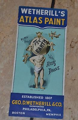 Advertising Wetherill's Atlas Paint Philadelphia Sold  Blooming Glen PA