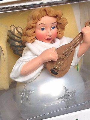 Dept. 56 NOEL Christmas Ornament Angel with Mandolin