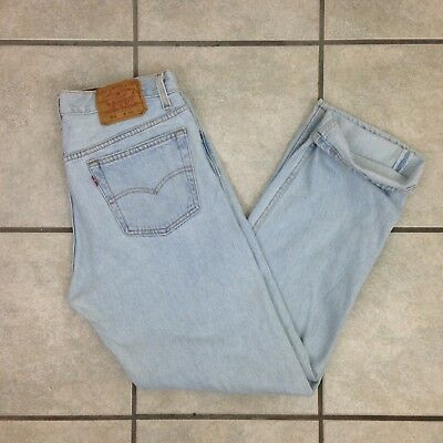 Vintage Levi's 501 Button Fly Light Wah Jeans - Size 31x30 (measured)