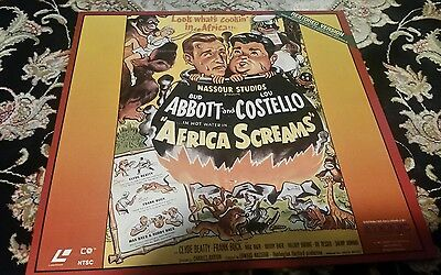 Abbott and Costello Africa Screams Laserdisc laser disc
