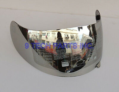 AGV K3 K4 Visor Motorcycle Helmet Lens Face Shield SILVER CHROME not fit K3-SV