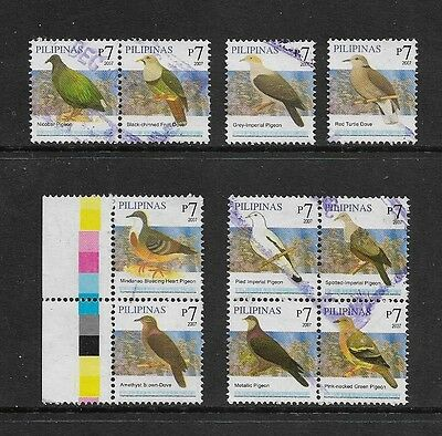 PHILIPPINES - 2007 Birds No.3, 7p Pigeons Doves, used