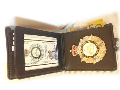 Executive Badge Wallet  - 2 Cash Sections - Our Badge not Included