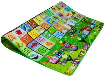 Zicac Double Sided Waterproof Baby Boys Girls Play Mat Soft Environment Toddler