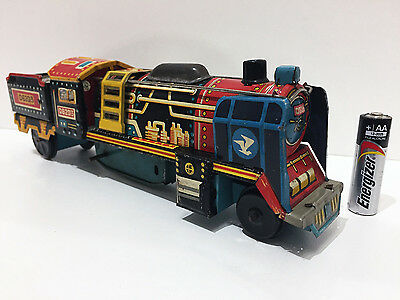 D62013 Steam Train Modern Toys Japan Tin Plate Toy - parts / repair / vintage