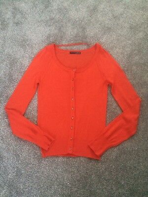 Women's Red Cardigan From Primark : Size 8 Worn Once