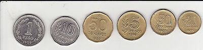 Lot of Six Coins from Argentina