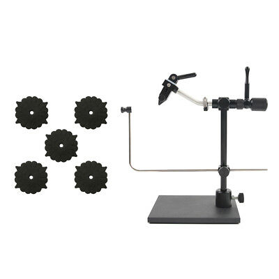 Fly Tying Tools Vices Set Kit 5Pcs Vise Foam Rack and 1 pcs Fly Tying Vice