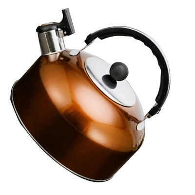 Stainless Steel Camping Travel Whistling Water Tea Kettle Gas Electric