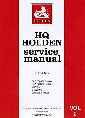 Holden HQ 1972 Factory Service Repair Workshop Manual Volume 2