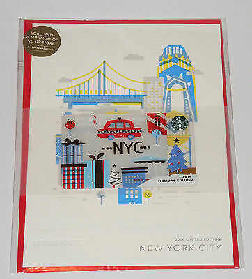 Starbucks Card - USA - CITY CARD XMAS SPECIAL EDITION - 2016 - NEW YORK CITY