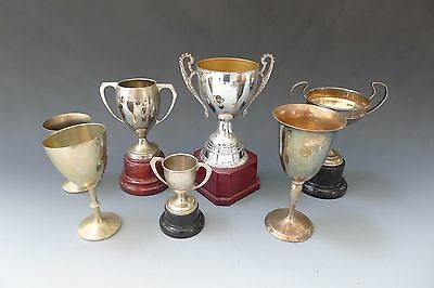 Collection of silver plated & metal trophies & cups - job lot