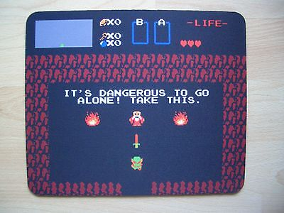 """Mouse Pad.Motiv""""It`s Dangerous to go Alone!Take This"""""""