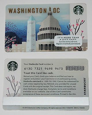 Starbucks Card - USA - CITY CARD WASHINGTON DC - 2016