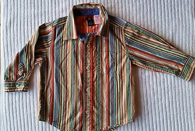 Boys Baby GAP colourful striped shirt Size 2