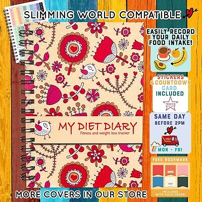 Food Diary Slimming World Compatible Diet Plan Book Log Journal Healthy Quote 19
