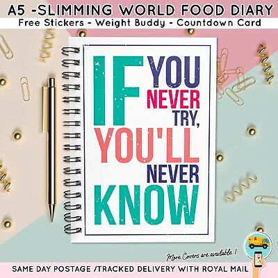 Food Diary Slimming World Compatible Diet Plan Book Log Journal *if You Never*