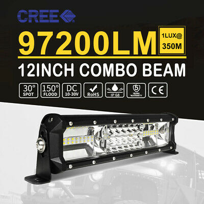 32Inch 1080W CREE LED Light Bar SPOT FLOOD Driving Work OffRoad SUV ATV 4X4 30''