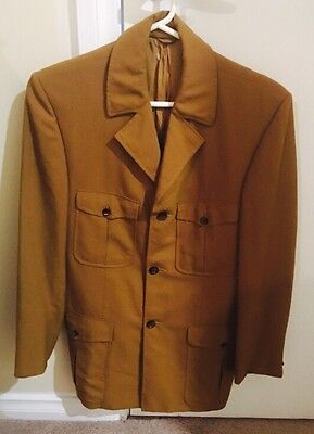 Vintage 80s Tan Madison Avenue Safari Style Jacket