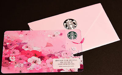 Starbucks Card - SOUTH KOREA - ROSE OF SHARON with Sleeve - 2016
