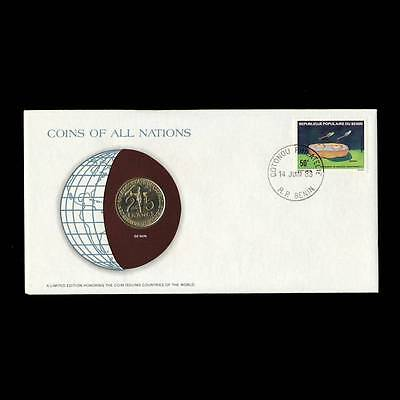 Benin 25 Francs 1982 Fdc Unc ─ Coins Of All Nations Uncirculated Stamp Cover Unc