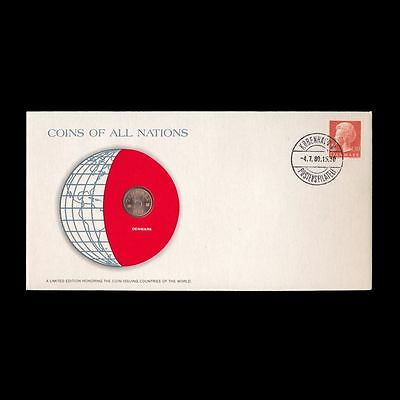 Denmark 1977 5 Ore 1977 Fdc ─ Coins Of All Nations Uncirculated Stamp Cover Unc